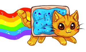 Blueberry Nyan Cat by bricu