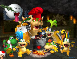 Bowser in...a friend dinner... by bowser90