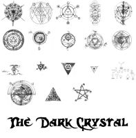 Dark Crystal Symbols by paradoxstock