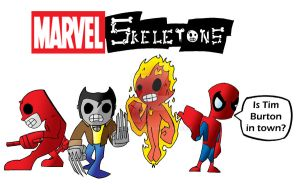 Marvel Skeletons by Spence2115