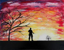 The unknown soldier by Abuttonpress2Nothing