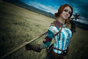 The Witcher 2 cosplay - Triss Merigold_3 by GreatQueenLina
