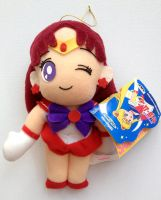 Sailor Moon R Banpresto Mars Plush Doll Set 2 by aleena