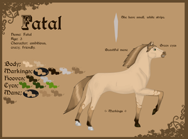 Fatal char sheet by LionessNala