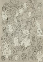 Bunch O'heads by Twisted-Existence