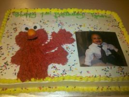 Happy Birthday, Tyson w/Elmo by missblissbakery