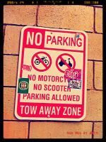 No Parking - Tow Away Zone by ryanthescooterguy