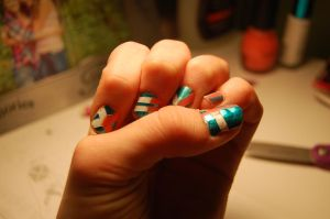 DIY Nail Art Design by TheWritingDragon