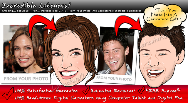 Digital Caricatures Drawings Portraits From Photos by caricatureq