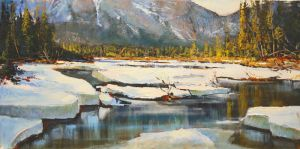 Bow River Banff by artistwilder