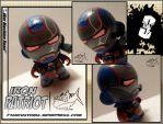 Iron Patriot micro munny by F1shcustoms