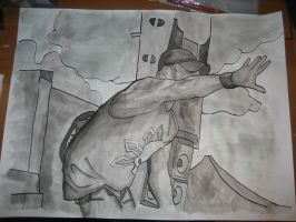 All That Remains-Phil inkwash by skydemonx7