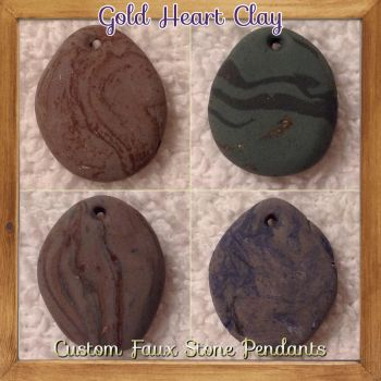 Make your own custom pendant in the link below! by Gold-Heart-Clay