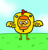 Jake The Dog In A Chicken Suit by chickenzoo