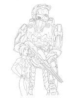 Chief and Cortana Lines WIP by AzureChris