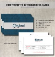 Retro Business Card Template in PSD by fiftyfivepixels