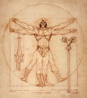 Vitruvian Skeleltor by AlessandroConti