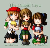 The Onigiri Crew - Collab - by Noelany