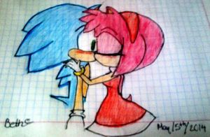 A Sonamy drawing by Lizgirl10Star