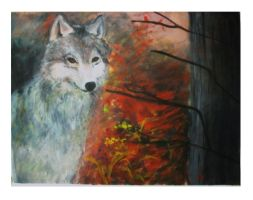 Wolf in the woods by SweetVenom94