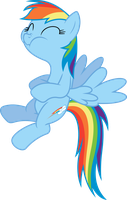Rainbow Dash can't hold it back by dasprid