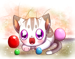 Ball kitty by GenyStar