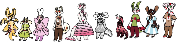Food themed Anthro adopts (1/10 open) by Sweetnfluffy-adopts