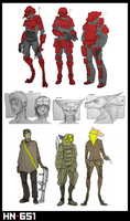 [HN-651] Race and Faction Sketches by Zaeta-K