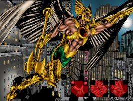 The Savage Hawkman Issue 9 pages 2-3 by MarcBourcier