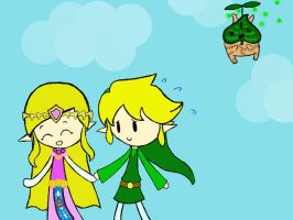 Come on Link! i dont wanna miss the festival~ by n00bycheesecake