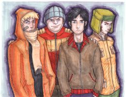 Boys from South Park by solid-ghost