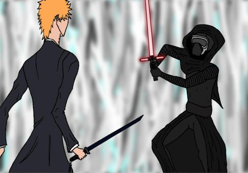 Ichigo vs Kylo by LoTexArt