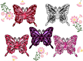 Butterfly Adoptables - adopted from goldbullet by Yuseichan