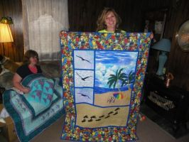 Beach Quilt for my Cousin Michelle by Stitchwich