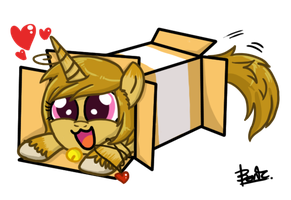 Yandere in box by benkomilk