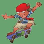 Sick Ollie the Pirate by IanABlakeman