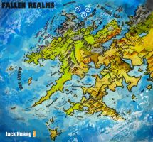 Fallen Realms World Map by dorianclock