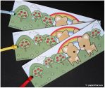 Fawn Bookmarks by littlepaperforest