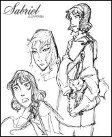 Sabriel Sketches by lberghol
