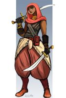 Character Design:  Ammani by TheLivingShadow