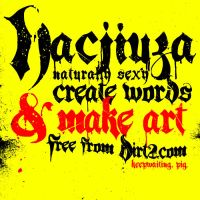 Hacjiuza Dirty - Free Font by KeepWaiting