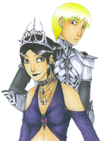 The queen and her brother by livemylex