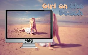 Wallpaper Girl on the Beach by oOILOVESONGOo