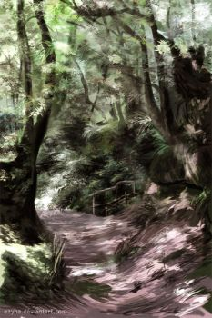 Forest Speedpainting 7. by eayna