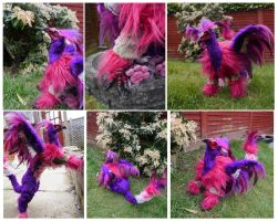 OOAK Domestic Griffon poseable art doll details by TrafficConeCreations