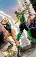 Green Arrow and Black Canary by ejimenez