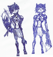 My first two Krystal drawings that didn't suck by DestinySpider