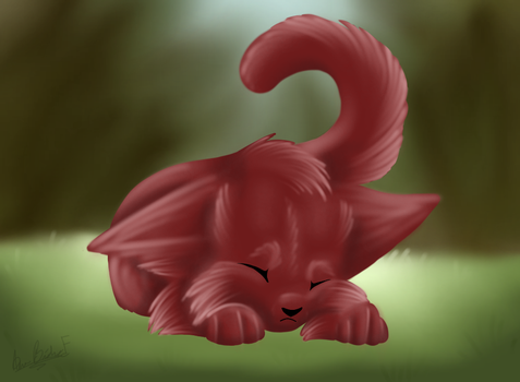 Sleepy Kitty by XFunkFoxX