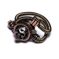 Steampunk Jewelry skull ring 2 by CatherinetteRings