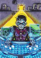Robin Young Justice: Hacking ACEO #78 by Kleiner-Schmetterlin